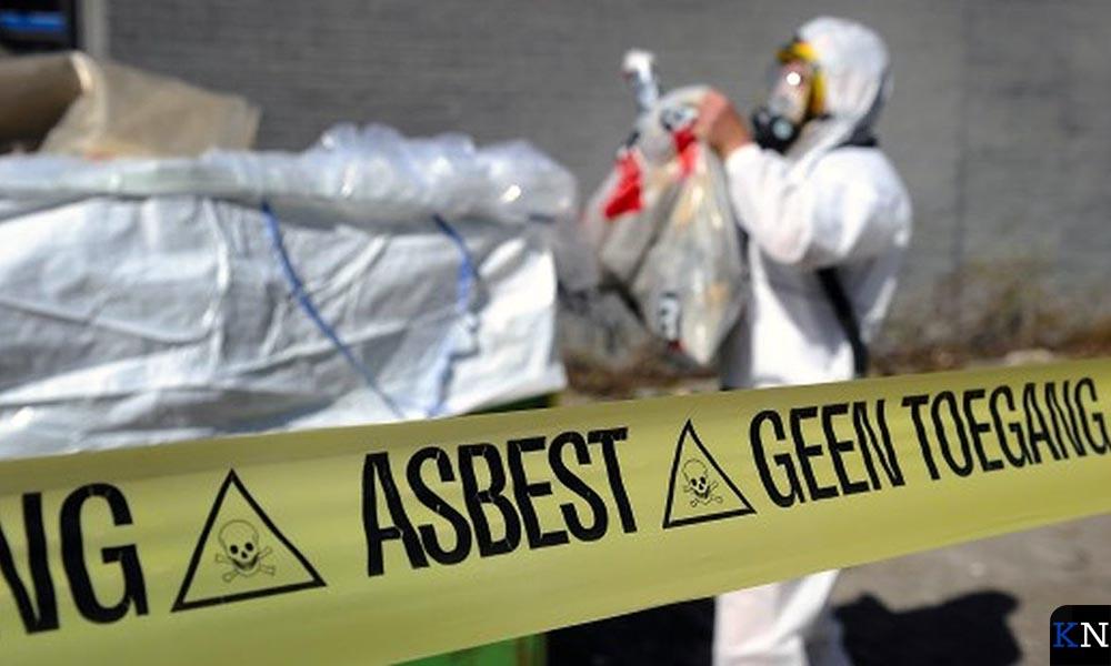 Sanering van aangetroffen asbest.