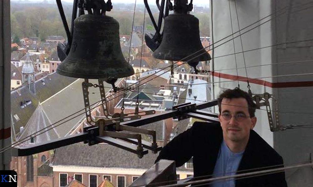 Jasper Stam op de St. Stevenstoren in Nijmegen.