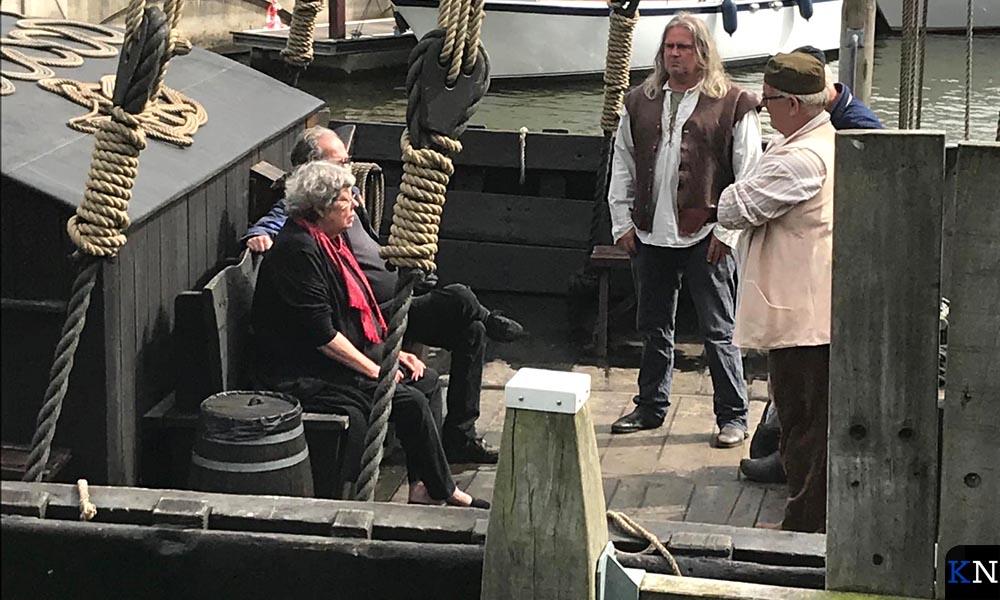 Vincent en Sis van Rossem op de Kamper Kogge.