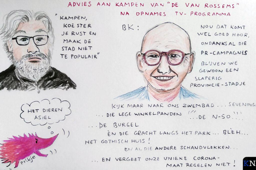 Prikje zet Van Rossem in dialoog met Koelewijn.
