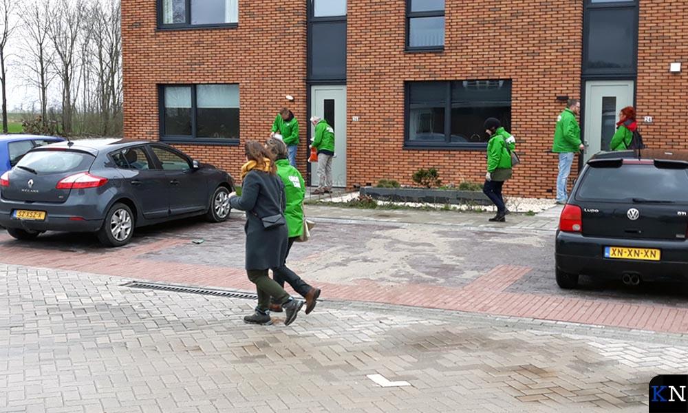Nieke Jansen & Suzanne Kröger op campagnepad in Kampen.
