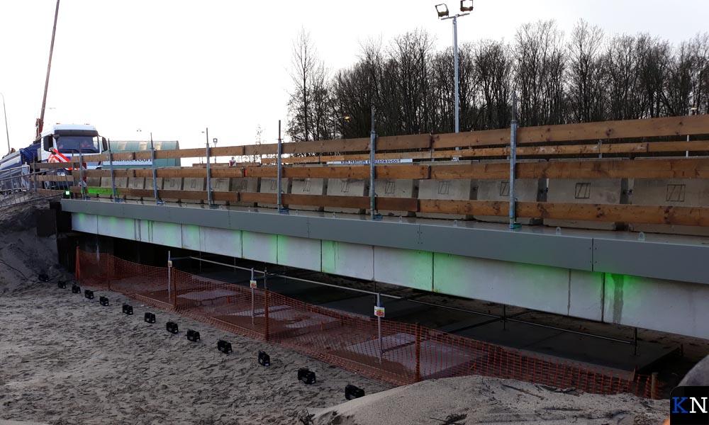 Eerste betonnen circulaire viaduct van Nederland.