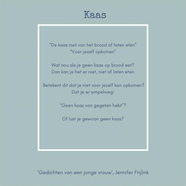 Jennifer Frijlink (hier bij Boekhandel Bos) is genomineerd met haar dichtbundel 'Gedichten van een jonge vrouw' voor 'Boekgoud 2020'.