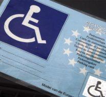 Met gehandicaptenparkeerkaart gratis parkeren