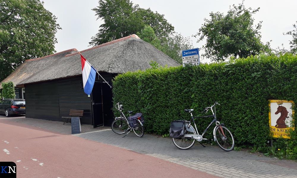 De voormalige doorloopschuur waarin nu het kleine Jan Pelleboermuseum huist.