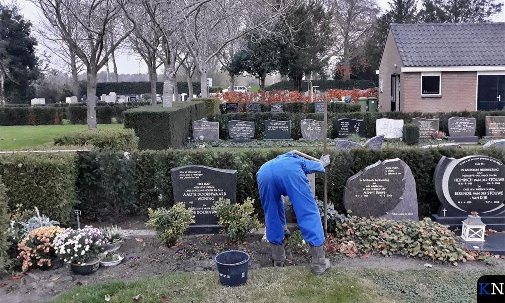 Inwoners uit Zalk zelf onderhoudt de begraafplaats.