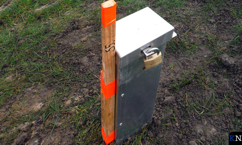 Peilbuis om de grondwaterstanden te meten.