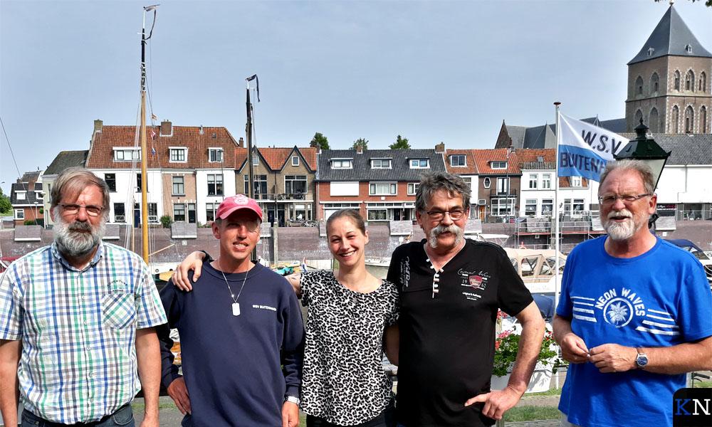 Het Buitenhavenmeestersteam met v.l.n.r. Piet, Arnold, Renate, Wiebe en Johan.