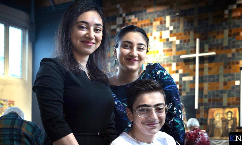 De kinderen van het Armeense gezin Tamrazyan in de Haagse Bethelkerk.