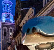 Blauwe steur voorop bij Lampionoptocht (video)
