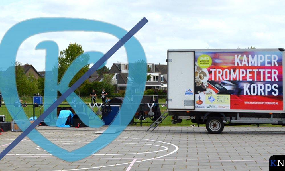 De eigen vrachtwagen van KTK.