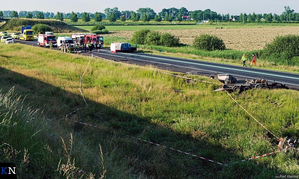 Overzicht van het plaats van ongeval op de N50.