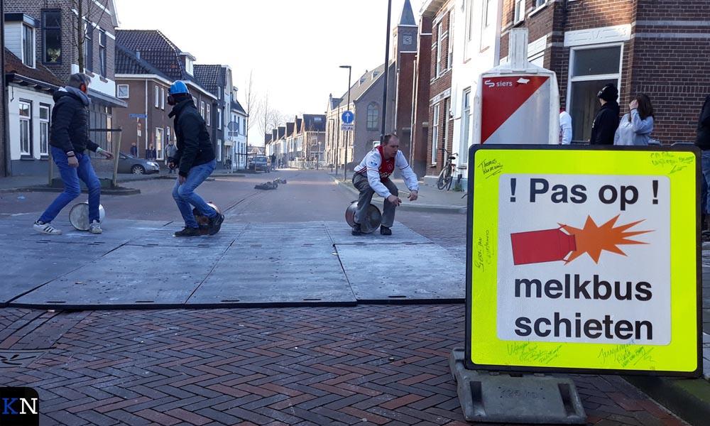 Carbidschutters op de Noordweg (Brunnepe, Kampen).