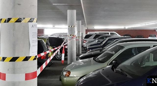 Vier maanden na opening eerste onderhoud parkeerdek Noordweg