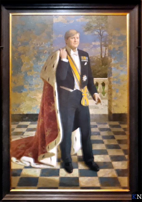 Koning Willem-Alexander geportretteerd door Kenne Grégoire in Stedelijk Museum Kampen.