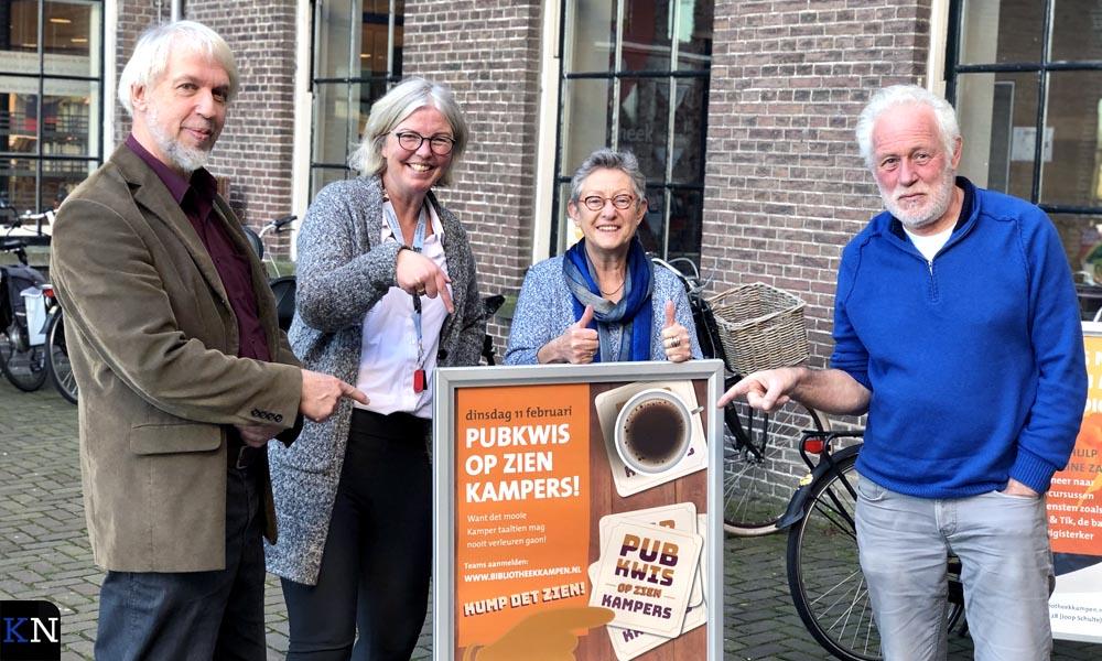 De organisatie van de Pubkwis op zien Kampers.