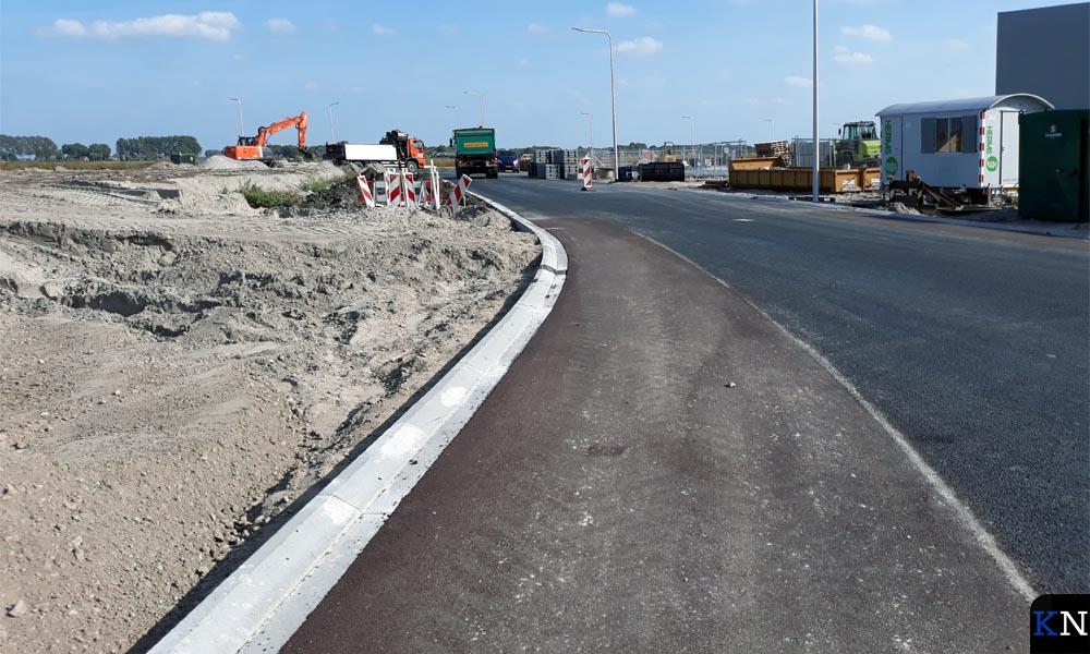 Een nieuw gedeelte van industrieterrein Spoorlanden in IJsselmuiden.