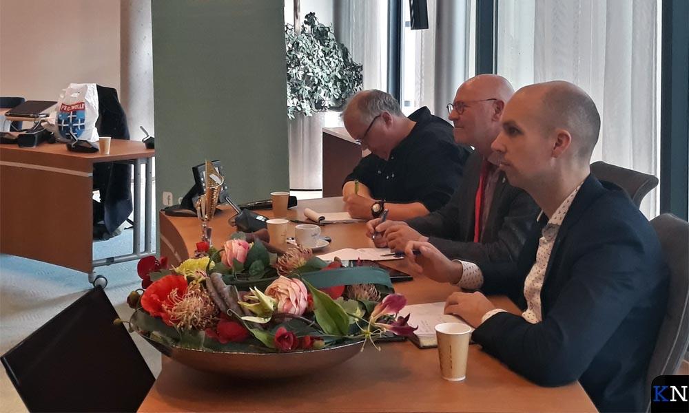 De jury bestaande uit v.l.n.r. Wim Schluter, Bort Koelewijn en Geert Meijering.