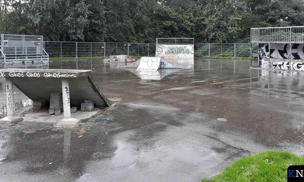 Het betreffende skatepark in het Groene Hart van Kampen.