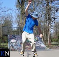Demonstratie op nieuwe skatebaan met uitleg