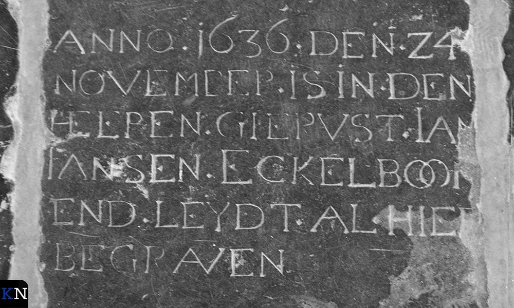 Grafsteen in de Buitenkerk.