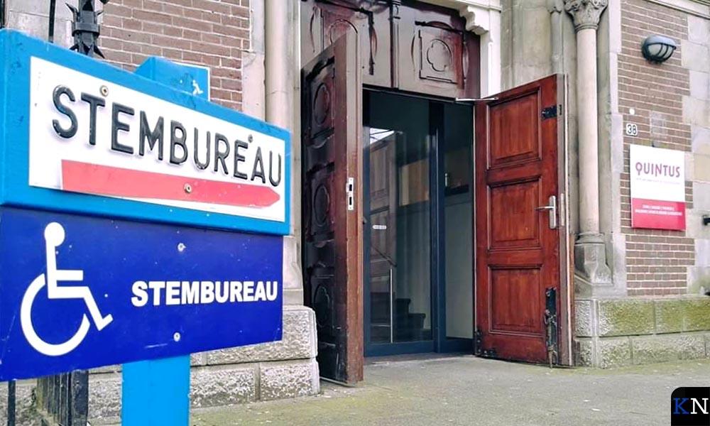 Op het stembureau bij Quintus kon niet elektronisch gestemd worden, zoals voor heel Nederland gold.
