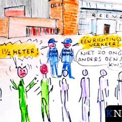 Prikje ziet al rijen wachtenden bij het Kamper stadhuis.