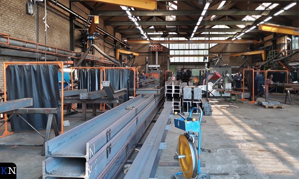 Een huidige productiehal van Van der Sluis Constructie.