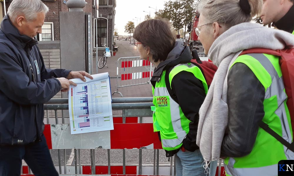 De procedures bij hoog water worden uitgelegd.