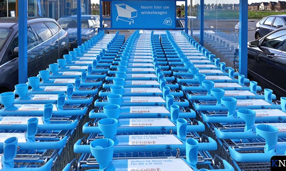 Werkeloze winkelkaartjes bij AH Kampen-Zuid.