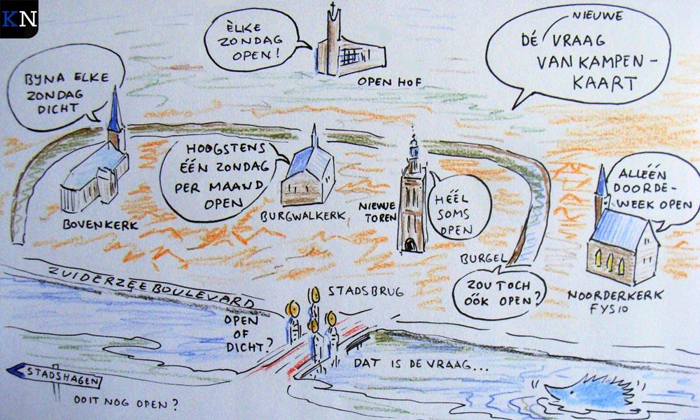 De actuele situatie van Kampen op Zondag volgens Prikje.