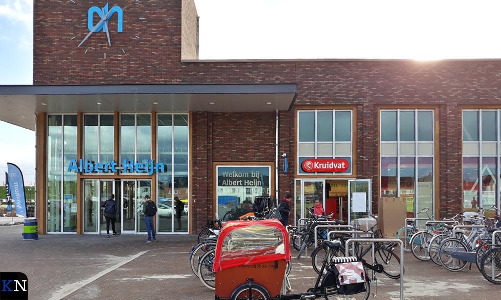 Het nieuwe, deels nog in aanbouw zijnde, winkelcentrum in het Stationskwartier.